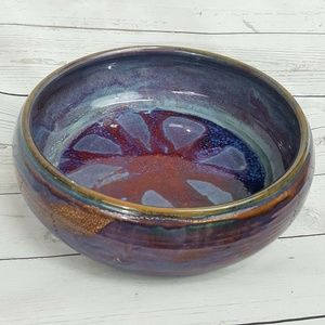 Mud in your Eye Jeff McD purple glazed pottery